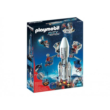 Playmobil Space Rocket With Launch Site - Envío Gratuito